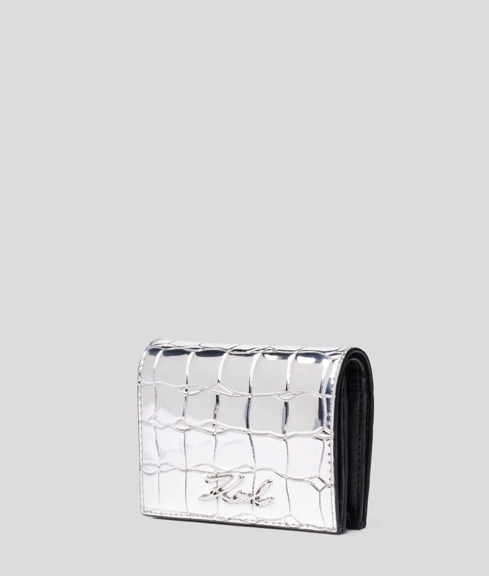 KARL LAGERFELD K/Signature Fold Wallet Wallet Woman r