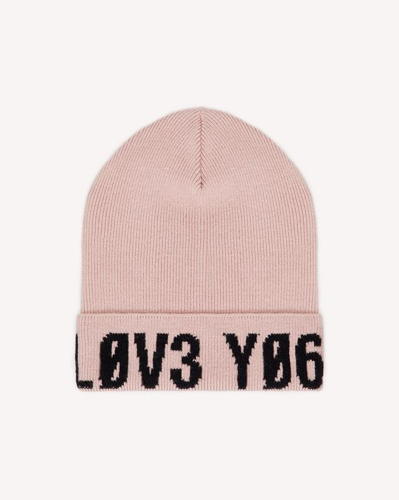 "REDValentino ""Love You"" intarsia wool beanie"