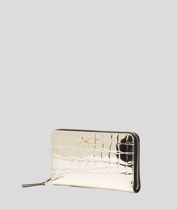 KARL LAGERFELD K/SIGNATURE ZIPPED WALLET