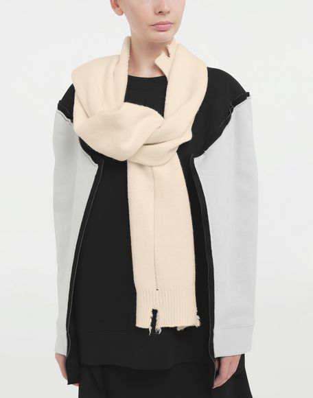 MAISON MARGIELA Reworked wool scarf Scarves and Stoles Woman r