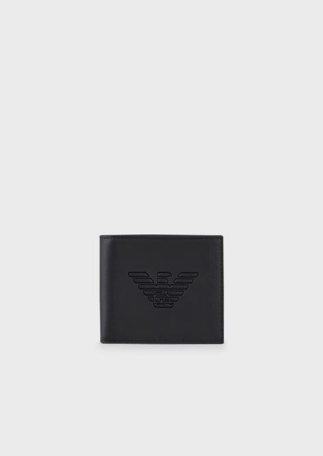 Wallet with embossed eagle logo