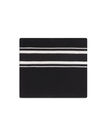 Black Scarf with Regimental Stripe