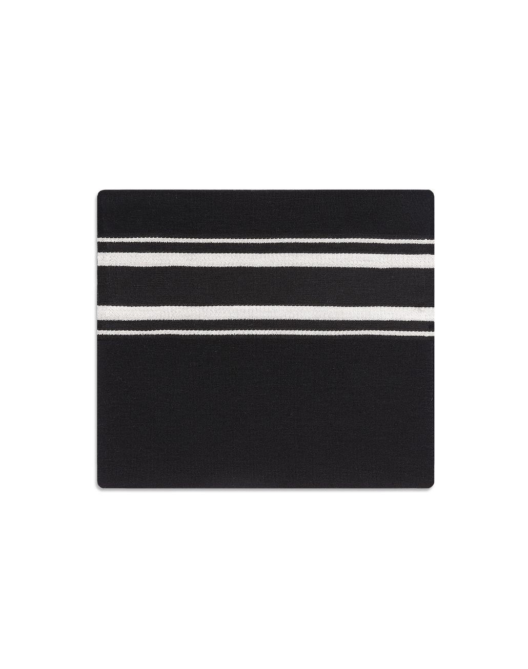 BRIONI スカーフ ブラック レジメンタルストライプ スカーフ メンズ f