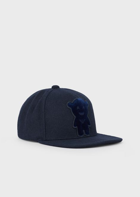 Cappello da baseball Manga Bear in misto lana
