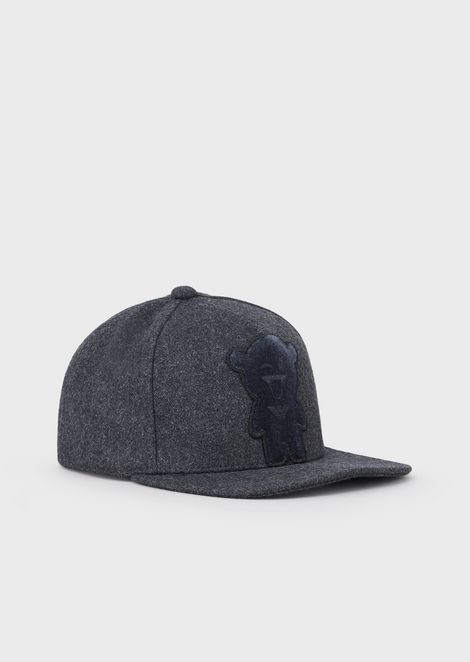Manga Bear baseball cap in wool blend