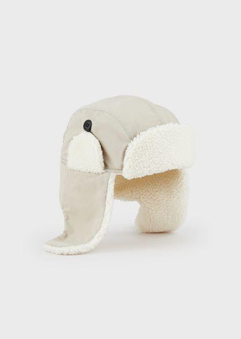 Gorra de aviador con interior de efecto piel de cordero