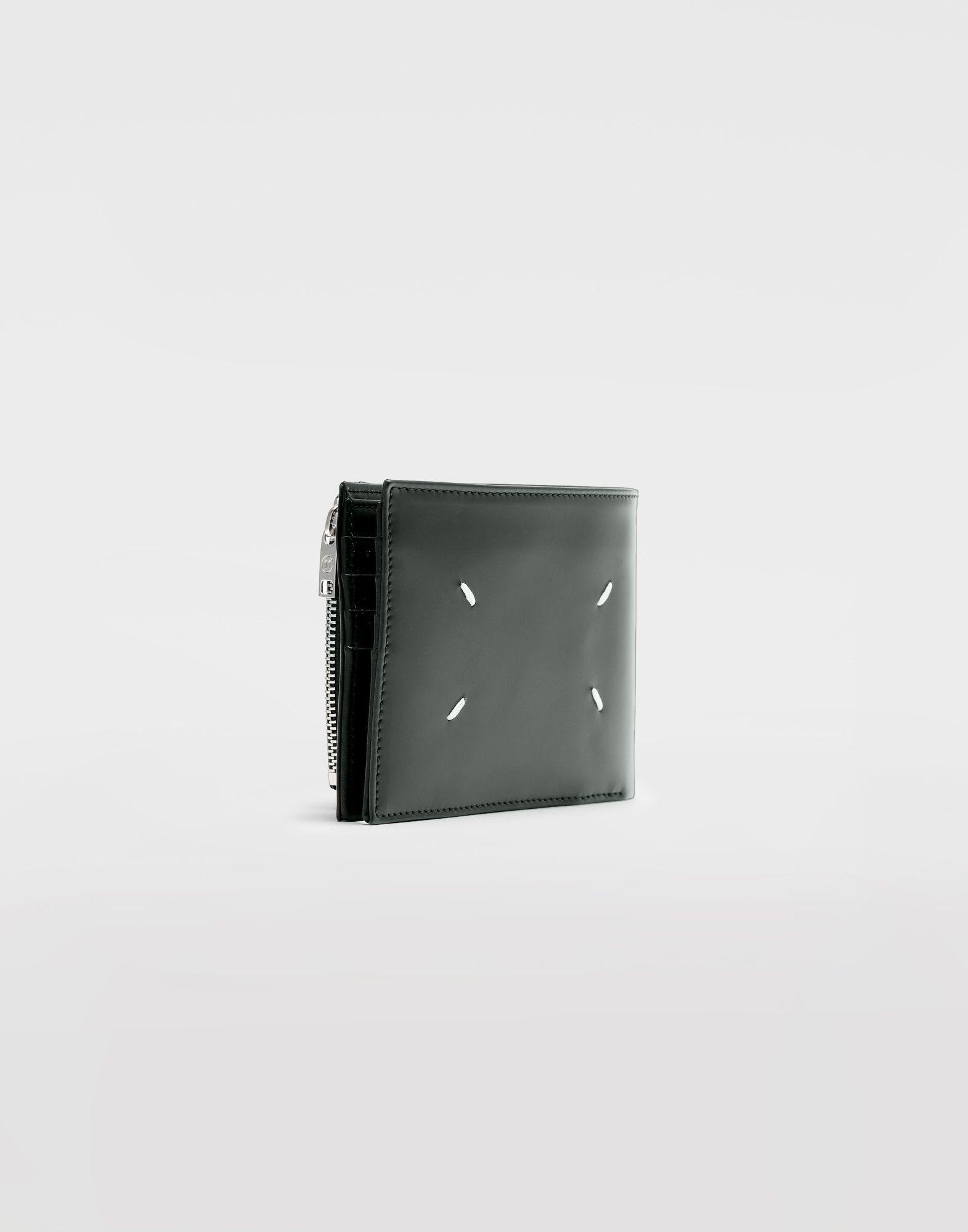 MAISON MARGIELA Folded calfskin zipped wallet Wallets Man r