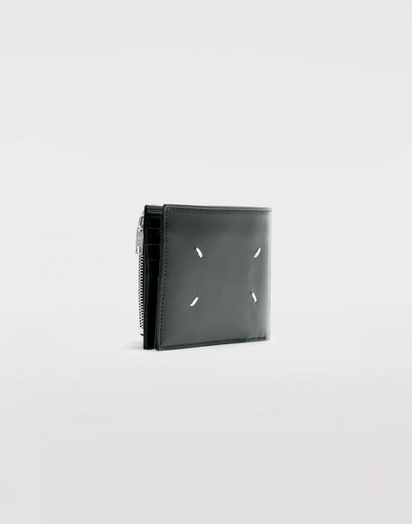 MAISON MARGIELA Folded calfskin zipped wallet Wallet Man r