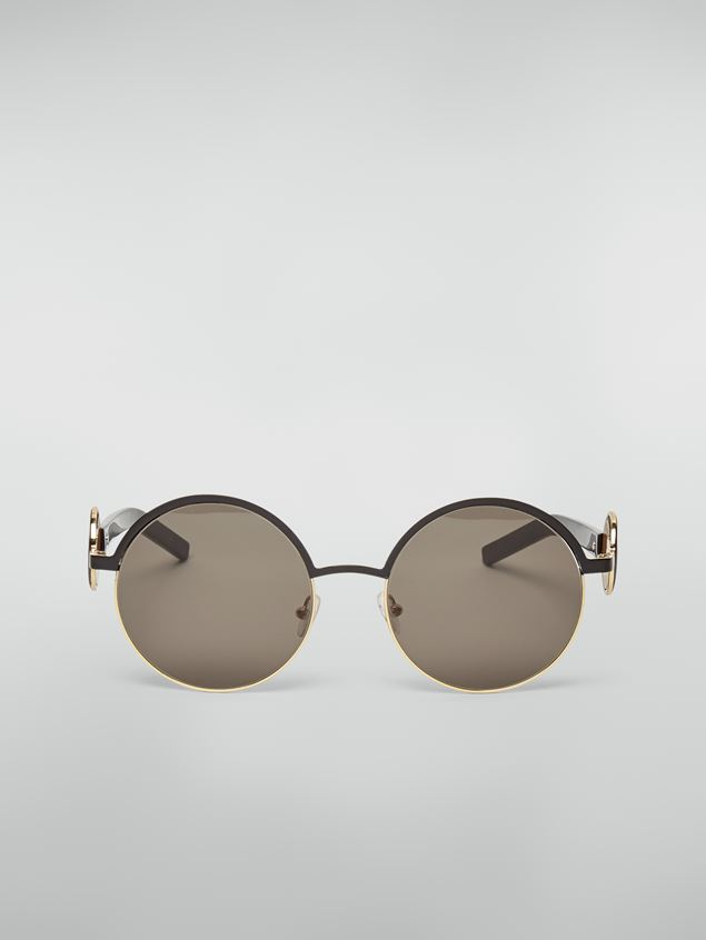 Marni Marni OBLO' sunglasses in black nickel silver Woman - 1