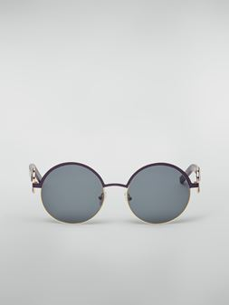 Marni Marni OBLO' sunglasses in purple nickel silver Woman