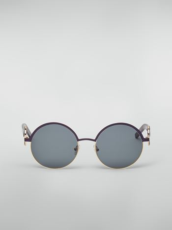Marni Marni OBLO' sunglasses in purple nickel silver Woman f