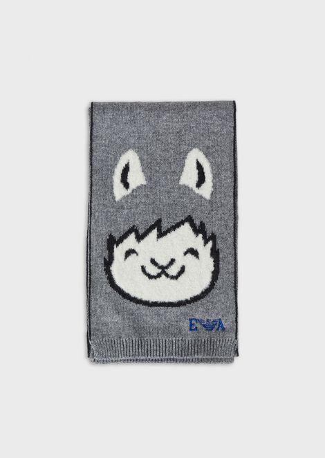 Alpaca jacquard scarf