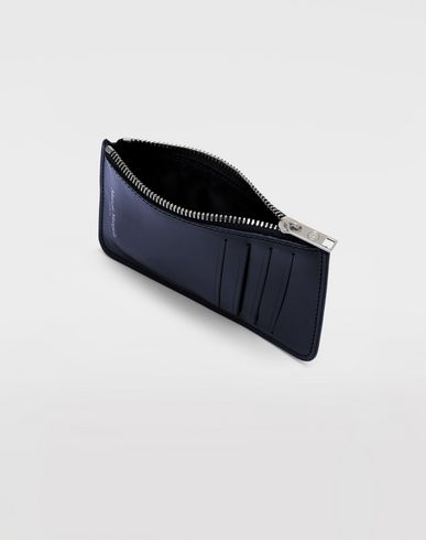 ACCESSORIES Long calfskin card-holder Blue