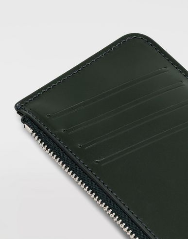 ACCESSORIES Long calfskin card-holder Dark green