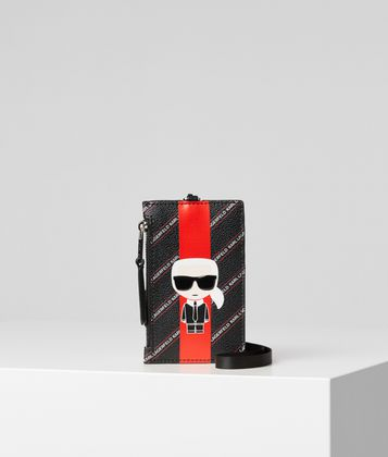 KARL LAGERFELD K/STRIPE IKONIK CARD HOLDER