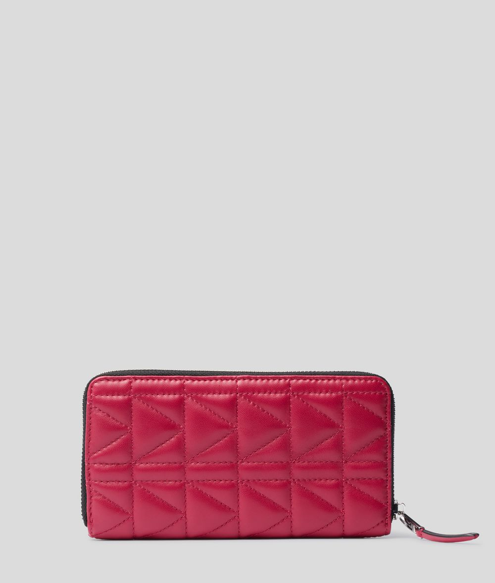 KARL LAGERFELD K/Kuilted Zip-Around Wallet Wallet Woman d