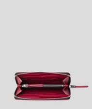 KARL LAGERFELD K/Kuilted Zip-Around Wallet 9_f