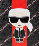 KARL LAGERFELD K/STRIPE IKONIK PASSPORT COVER