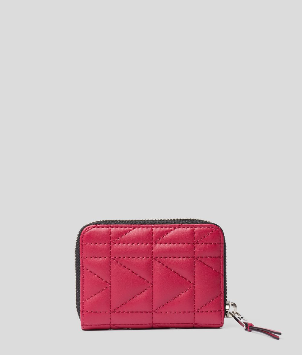 KARL LAGERFELD K/Kuilted Small Zip-Around Wallet Wallet Woman d