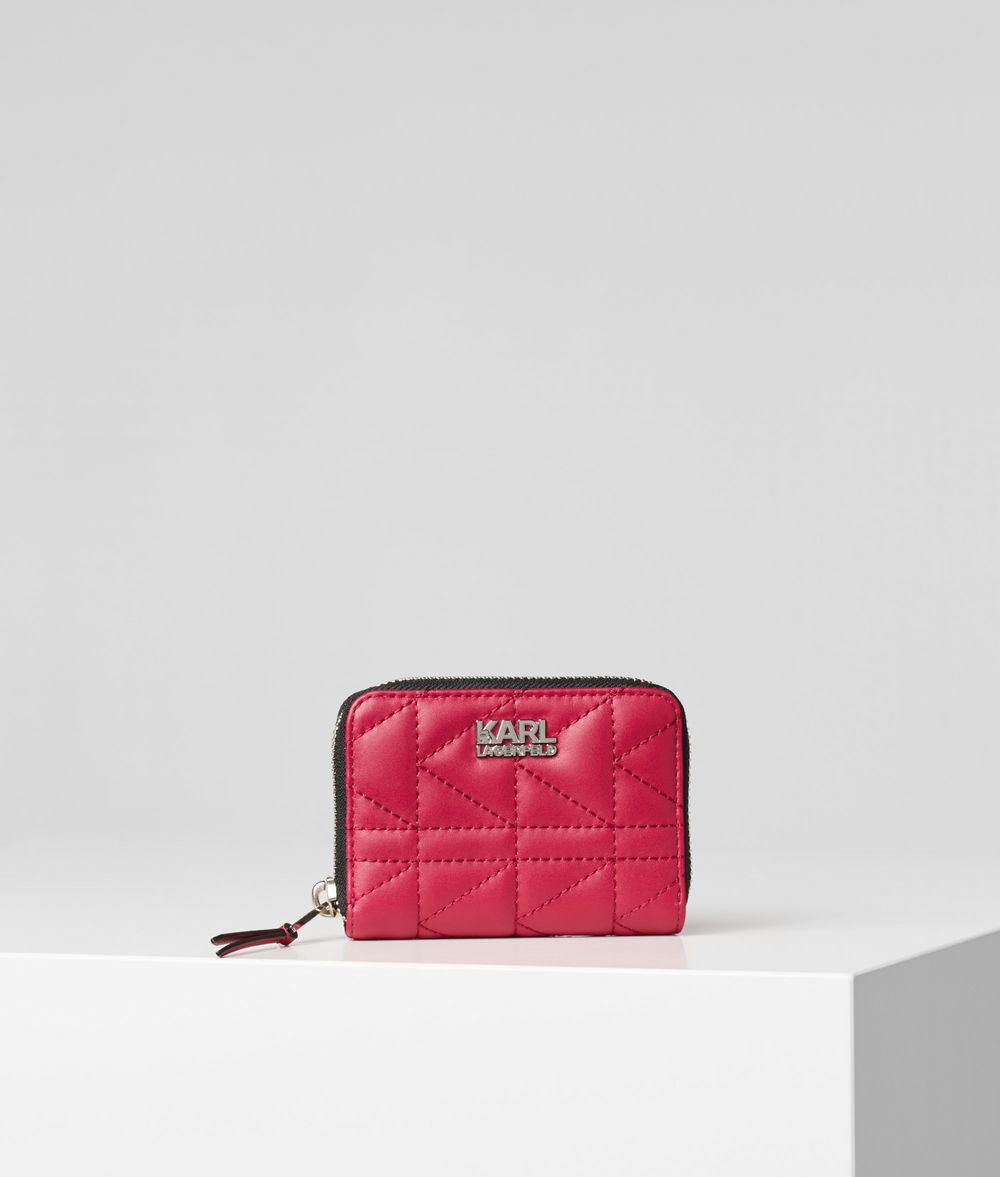 KARL LAGERFELD Petit portefeuille zippé K/Kuilted Portefeuille Femme f