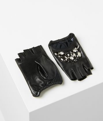 KARL LAGERFELD MIXED GEOSTONES GLOVES