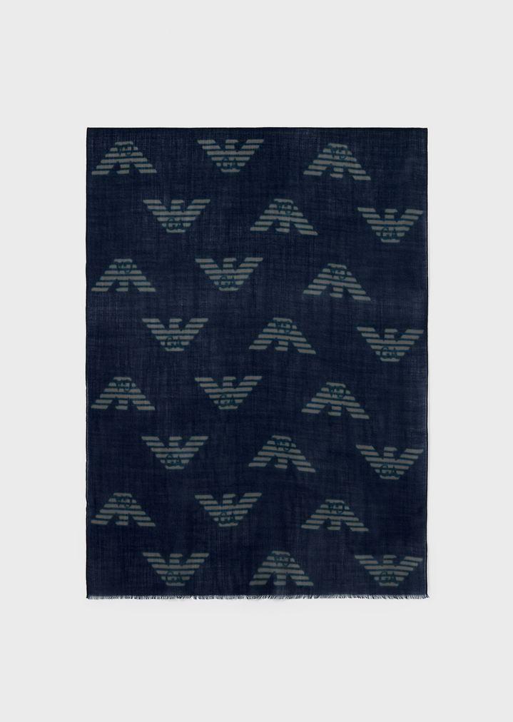meilleur prix toujours populaire vêtements de sport de performance Écharpe en pure laine vierge avec aigle