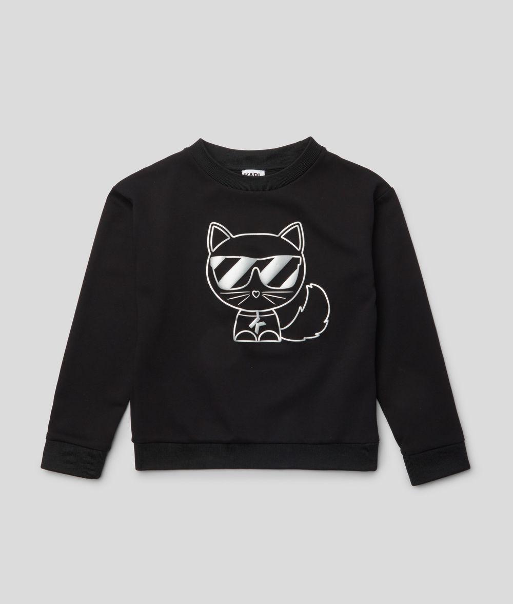 KARL LAGERFELD Choupette Outline Sweatshirt Kids' Sweatshirt Woman f