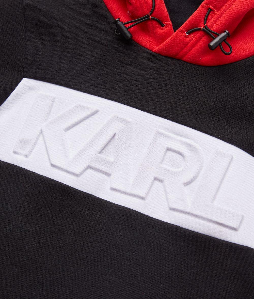 KARL LAGERFELD Logo Embossed Hoodie Kids' Sweatshirt Man d