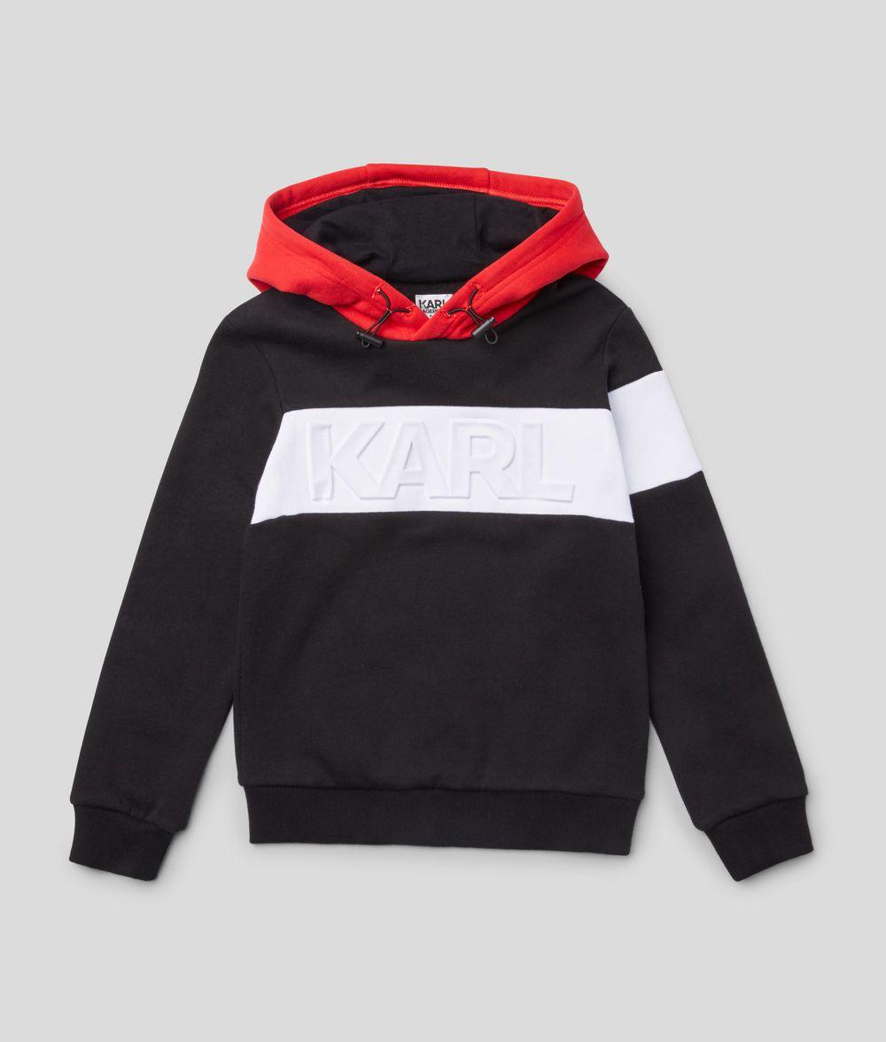 KARL LAGERFELD Logo Embossed Hoodie Kids' Sweatshirt Man f