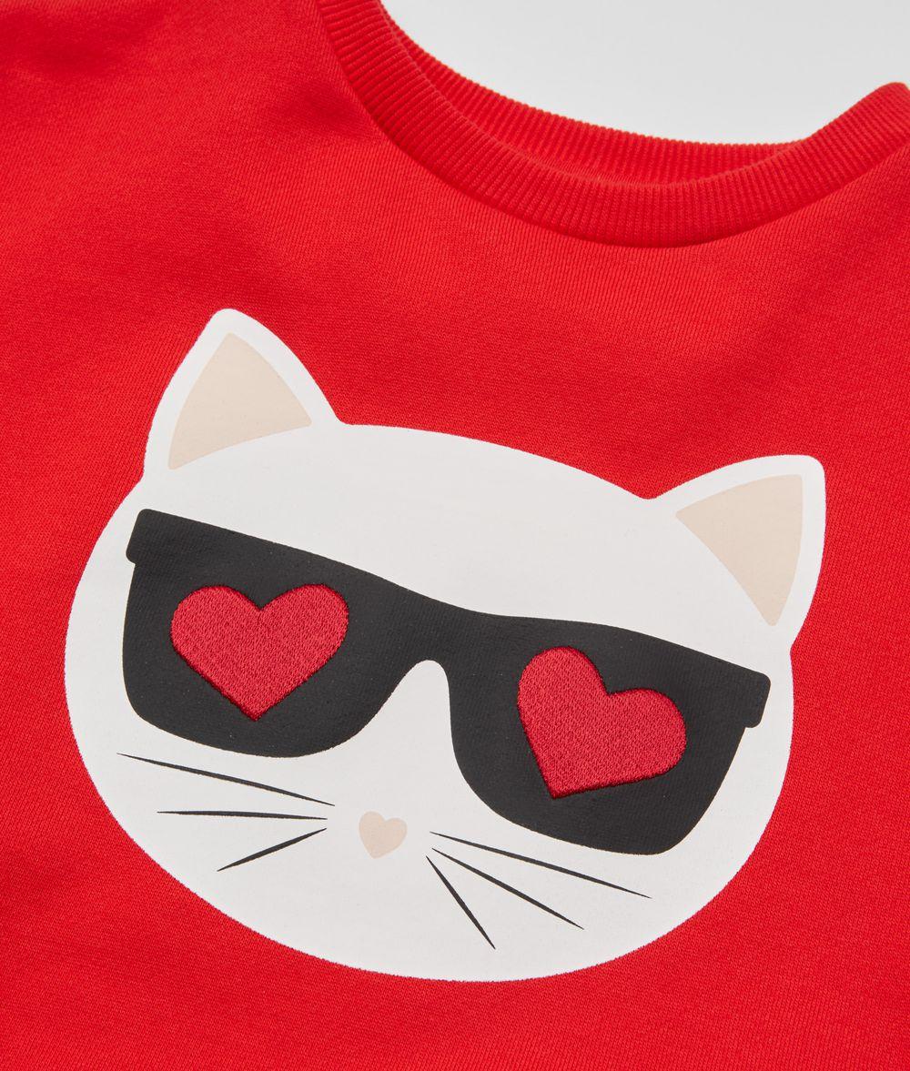 KARL LAGERFELD Choupette Love Sweatshirt Kids' Sweatshirt Woman d