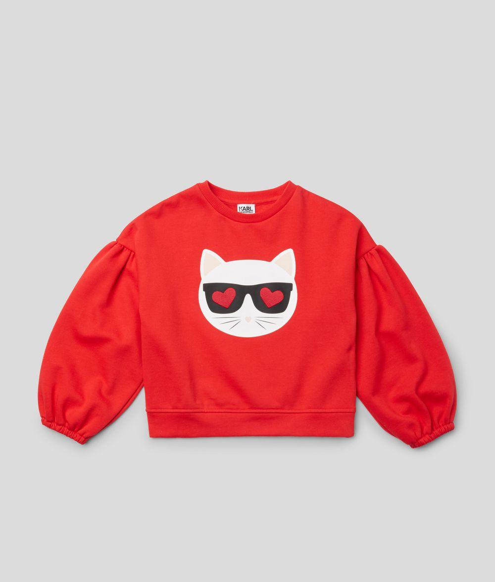 KARL LAGERFELD Choupette Love Sweatshirt Kids' Sweatshirt Woman f