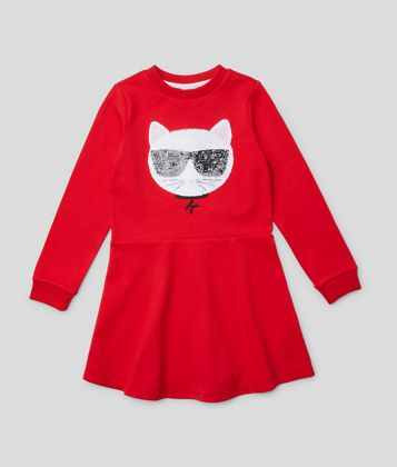 KARL LAGERFELD K/IKONIK CHOUPETTE DRESS