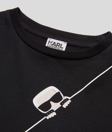 KARL LAGERFELD K/IKONIK LONG-SLEEVE T-SHIRT