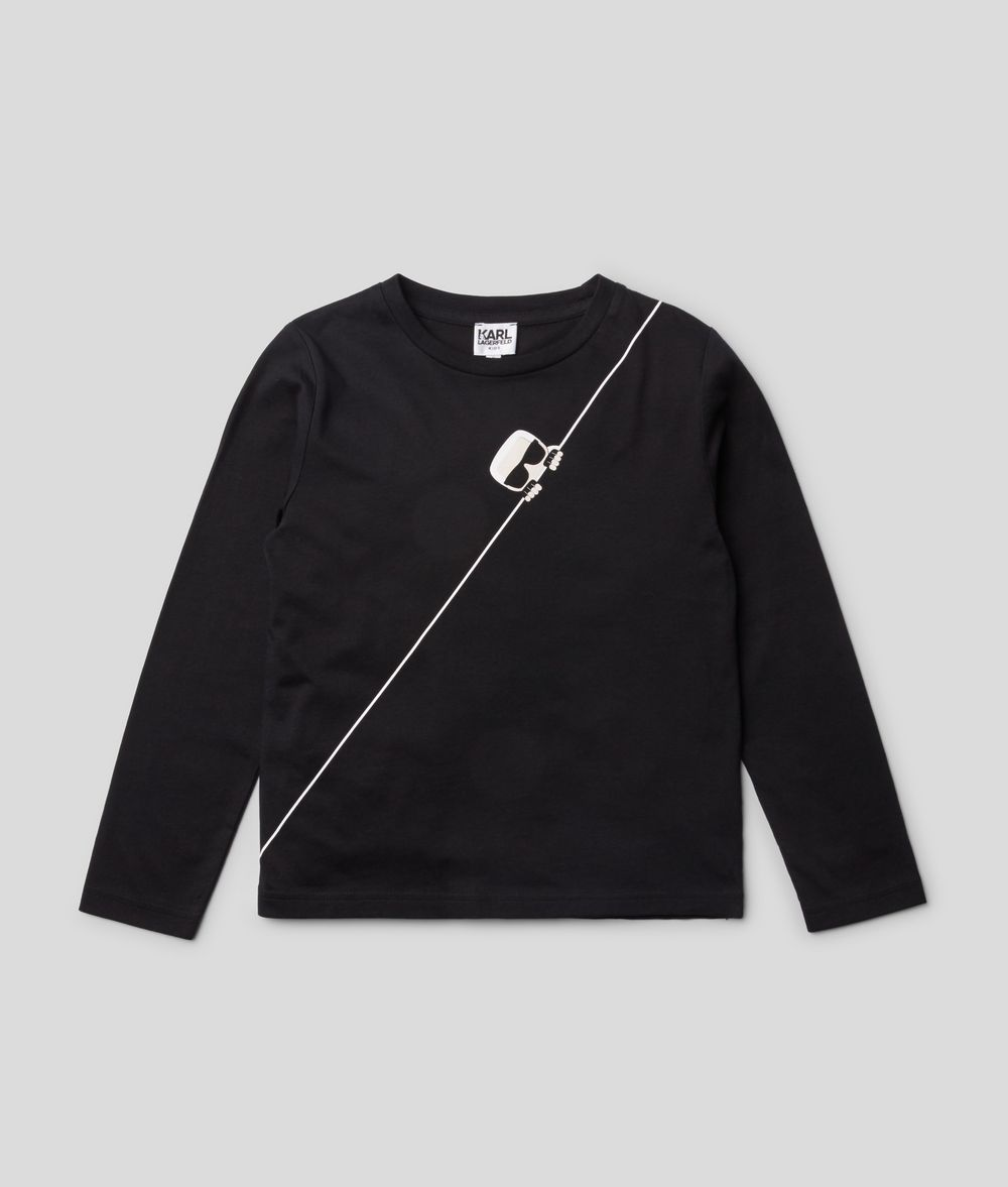 KARL LAGERFELD K/Ikonik Long Sleeve T-Shirt Kids' Sweatshirt Man f