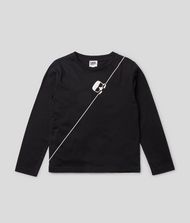 KARL LAGERFELD K/Ikonik Long Sleeve T-Shirt 9_f