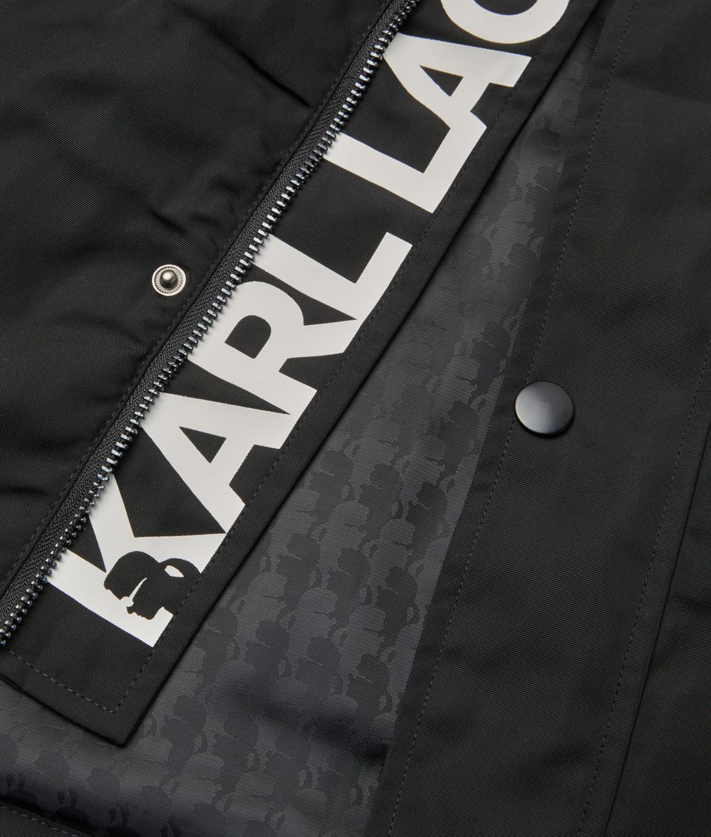 KARL LAGERFELD Logo Lining Parka Kids' Outerwear Man d