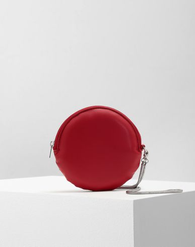 Small Leather Goods  Round wallet  Red