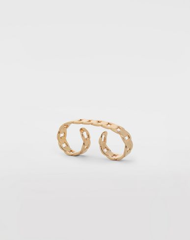 JEWELLERY Flat chain double ring Gold