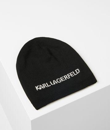 KARL LAGERFELD K/KARL REVERSIBLE BEANIE
