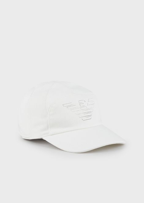 Reversible, logoed snapback hat