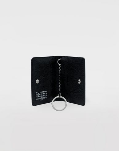 Small Leather Goods Logo card-holder Black