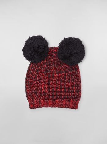 Marni CHINESE NEW YEAR 2020 wool hat with pom-pom Woman f
