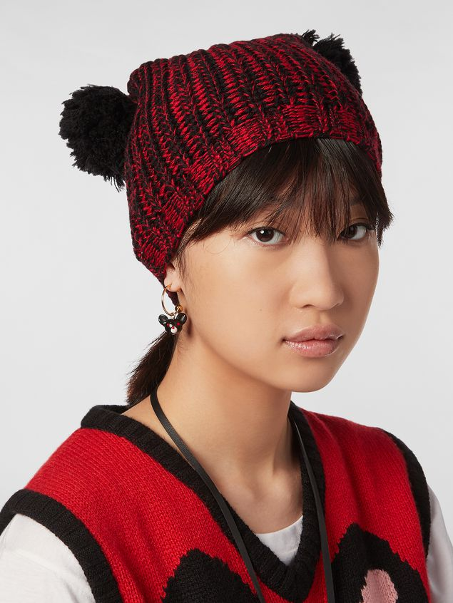 Marni CHINESE NEW YEAR 2020 wool hat with pom-pom Woman - 2