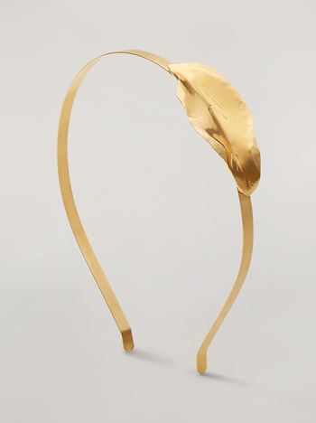 Marni NATURE head band in metal Woman f