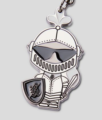 KARL LAGERFELD K/TREASURE KNIGHT KEYCHAIN