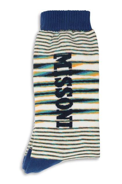 MISSONI Socks Blue Man - Front