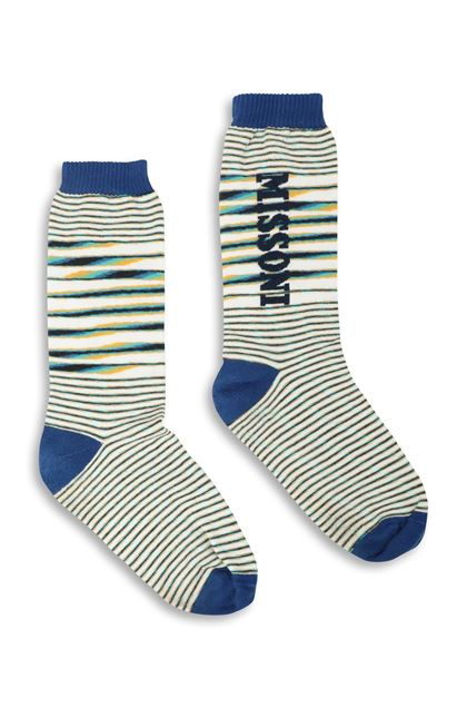MISSONI Socks Blue Man - Back