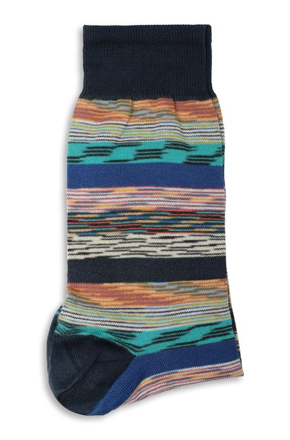 MISSONI Socks Dark blue Man - Front