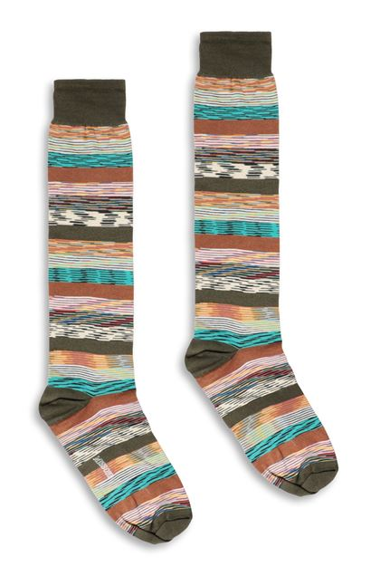 MISSONI Socks Military green Man - Back