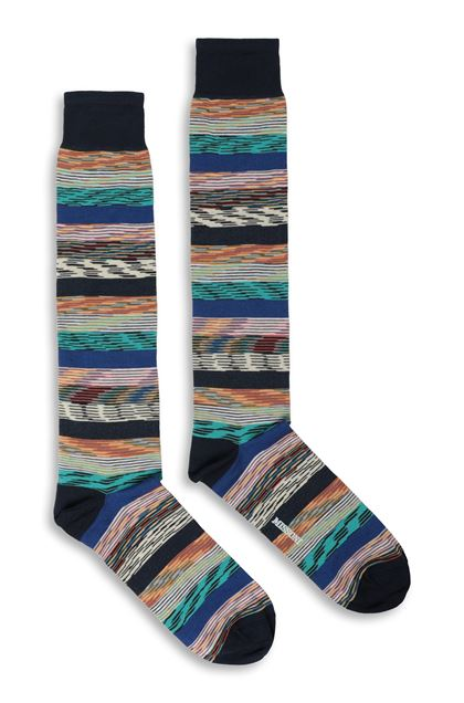 MISSONI Socks Dark blue Man - Back